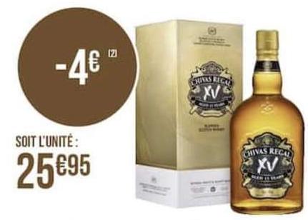 Sélection de produits en promotion - Ex: 1 Bouteille de Whiskey Chivas 15 ans d'âge - 70cl
