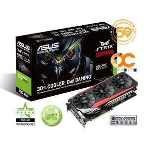 Carte graphique Asus Nvidia GeForce GTX 980 Ti DC3 OC Strix Edition 6 Go + Tom Clancy's The Division + Farcry Primal