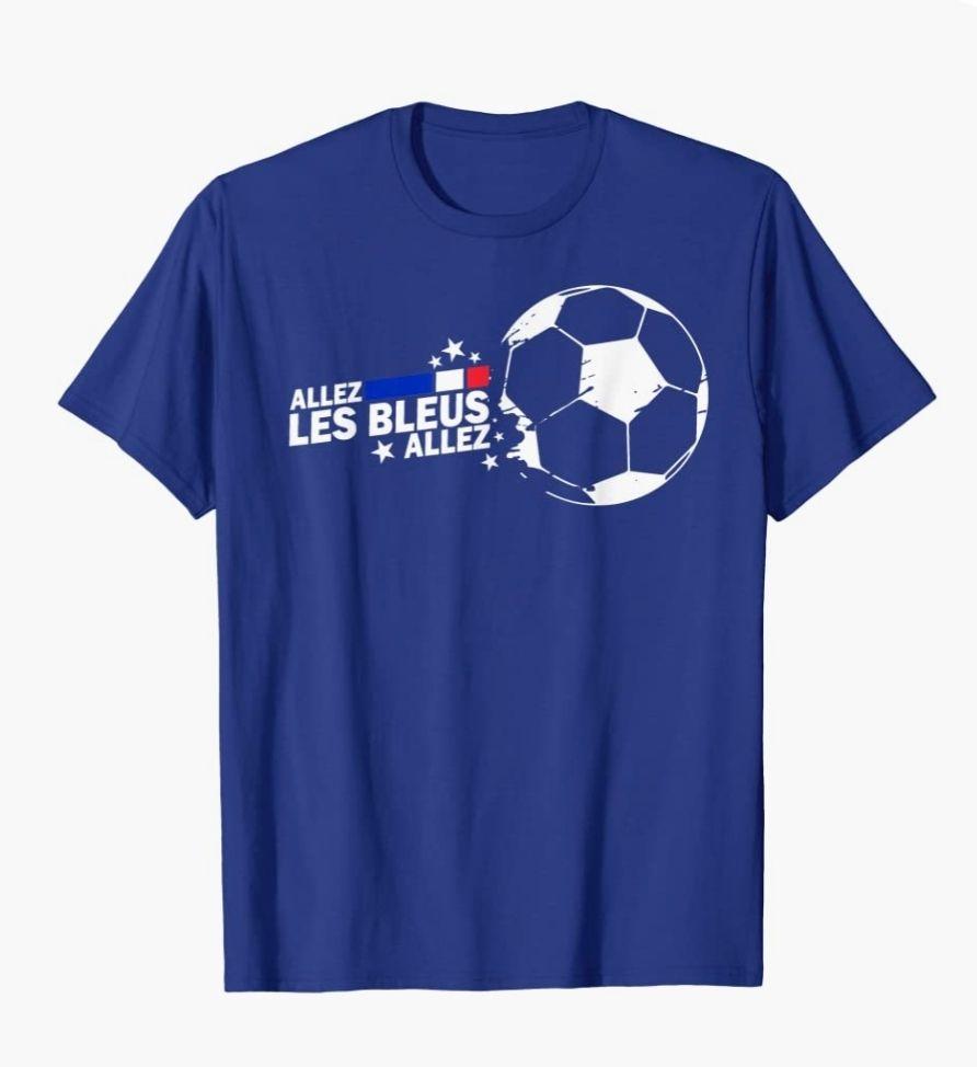T-Shirt France Euro 2021 - Tailles & Coloris au choix