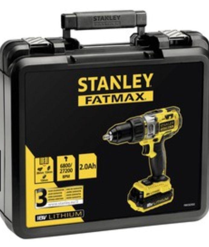 Perceuse à percussion Stanley Fatmax 18 V + 2 batteries 2 Ah + Chargeur + Mallette