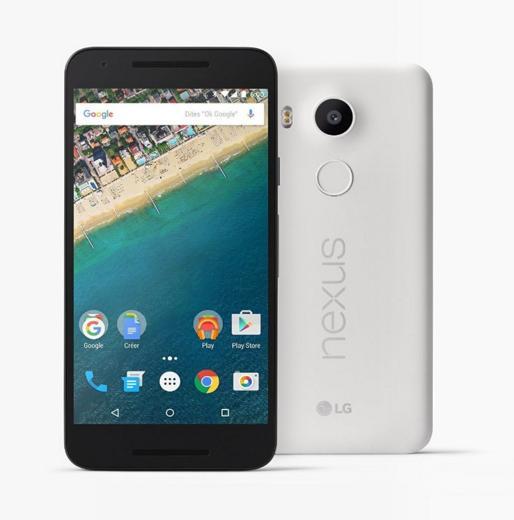 "Smartphone 5.2"" LG Nexus 5X - 32 Go, Blanc"