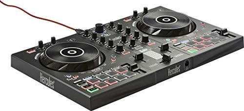Contrôleur DJ USB Hercules DJControl Inpulse 300 - 2 pistes avec 16 pads et carte son, Logiciel et tutoriels inclus