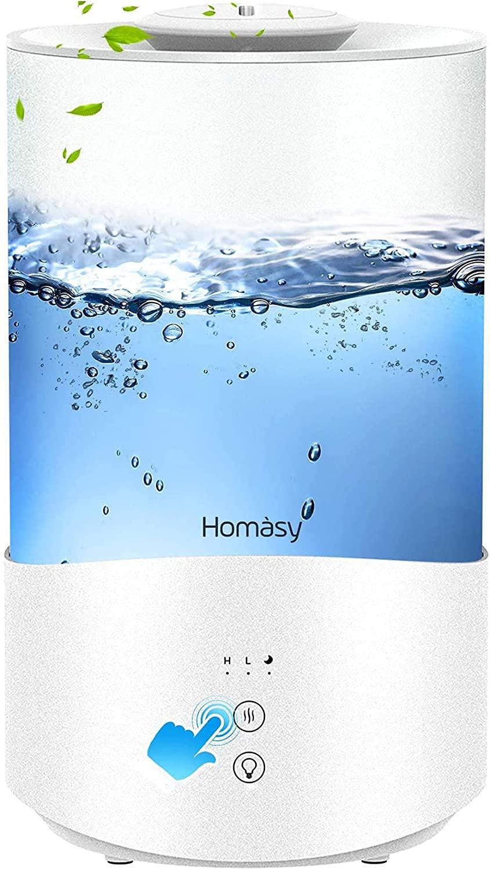 Diffuseur d'huiles essentielles / Humidificateur Homasy - 4L, Veilleuse 7 couleurs (Vendeur tiers)