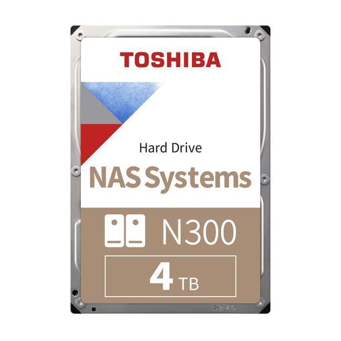 "Disque dur interne NAS 3.5"" Toshiba N300 (HDWQ140EZSTA) - 4 To, 7 200 tr/min, CMR"