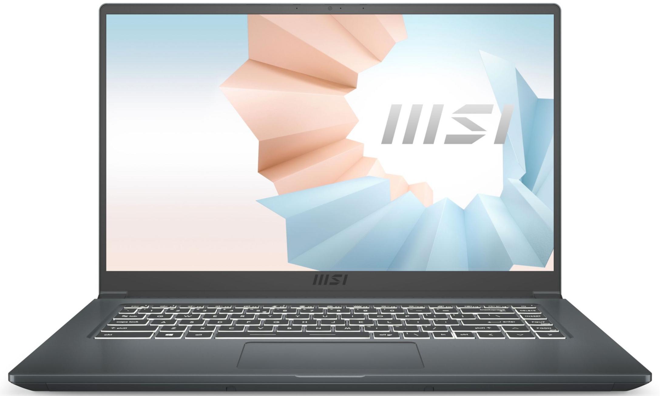 """PC Portable 15.6"""" MSI Modern 15 A10M-636FR - Full HD, i5-10210U, 16 Go RAM, 512 Go SSD, Windows 10"""