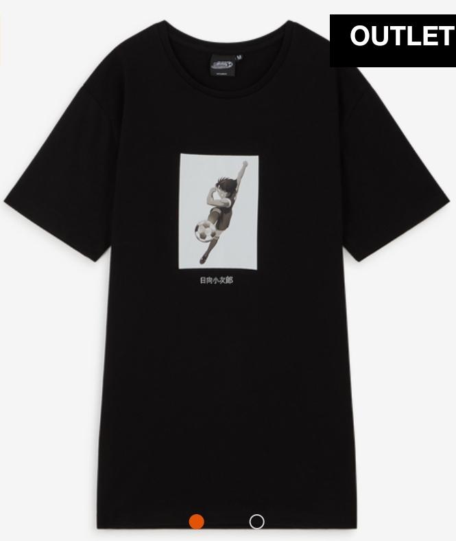 Sélection de t-shirts Capitaine Tsubasa en promotion - Ex: Tee shirt Kojiro - Noir (plusieurs tailles)