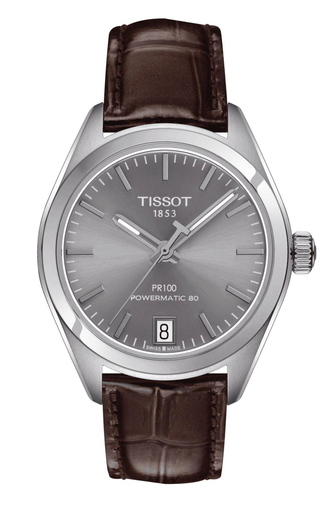 Montre Automatique Tissot PR 100 Powermatic 80 Lady T101.207.16.071.00, Verre Saphir - 33 mm (Frais d'importation et de douane inclus)