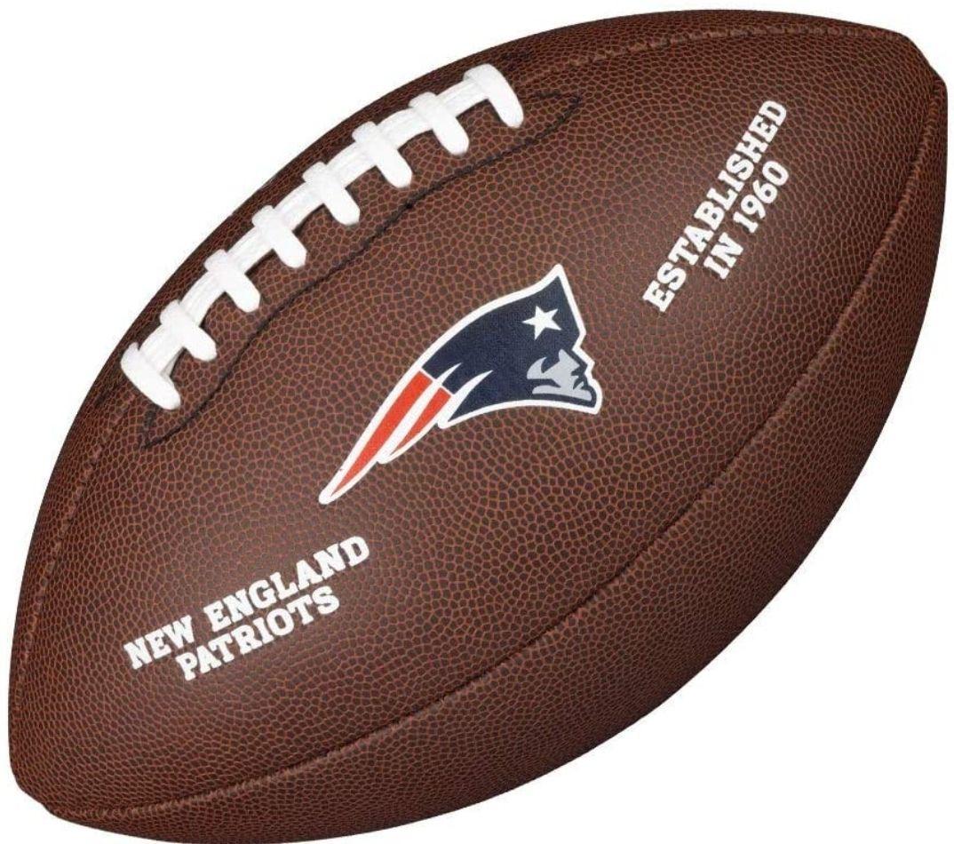 Ballon de football américain Wilson New England Patriots - Matériau Composite, Brun