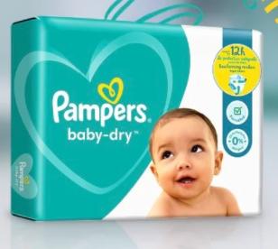 1 Paquet de couches scanné = 1 Paquet de couches Pampers Baby Dry offert (via l'application Pampers Club)