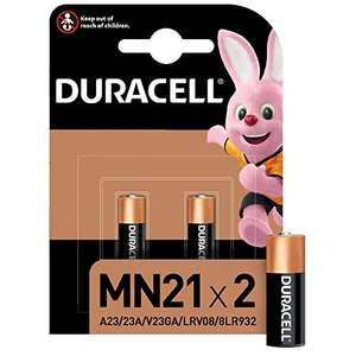 Lot de 2 Piles Duracell MN21 - 12V, A23 / 23A / V23GA / LRV08 / 8LR932