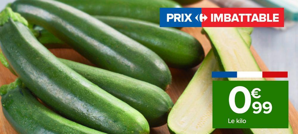 Courgettes Catégorie 1 Origine France - 1Kg