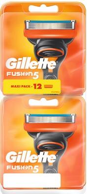 Lot de 12 lames Fusion 5 pour rasoir Gillette (via 24.43 € sur la carte fidélité)