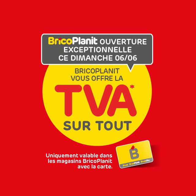 [Carte BricoPlanit & Mon Brico] 15TVA offerte sur tout le magasin - BricoPlanit (Frontaliers Belgique)