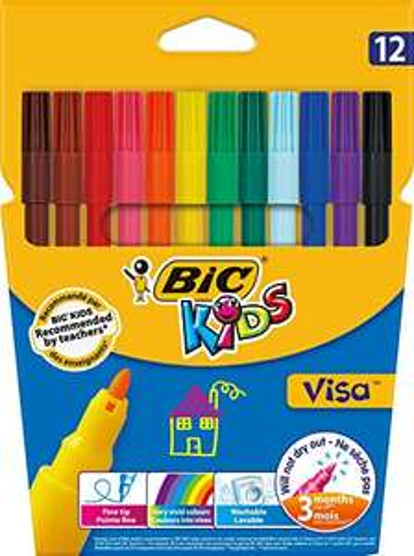 Etui carton de 12 Feutres de Coloriage BIC Kids