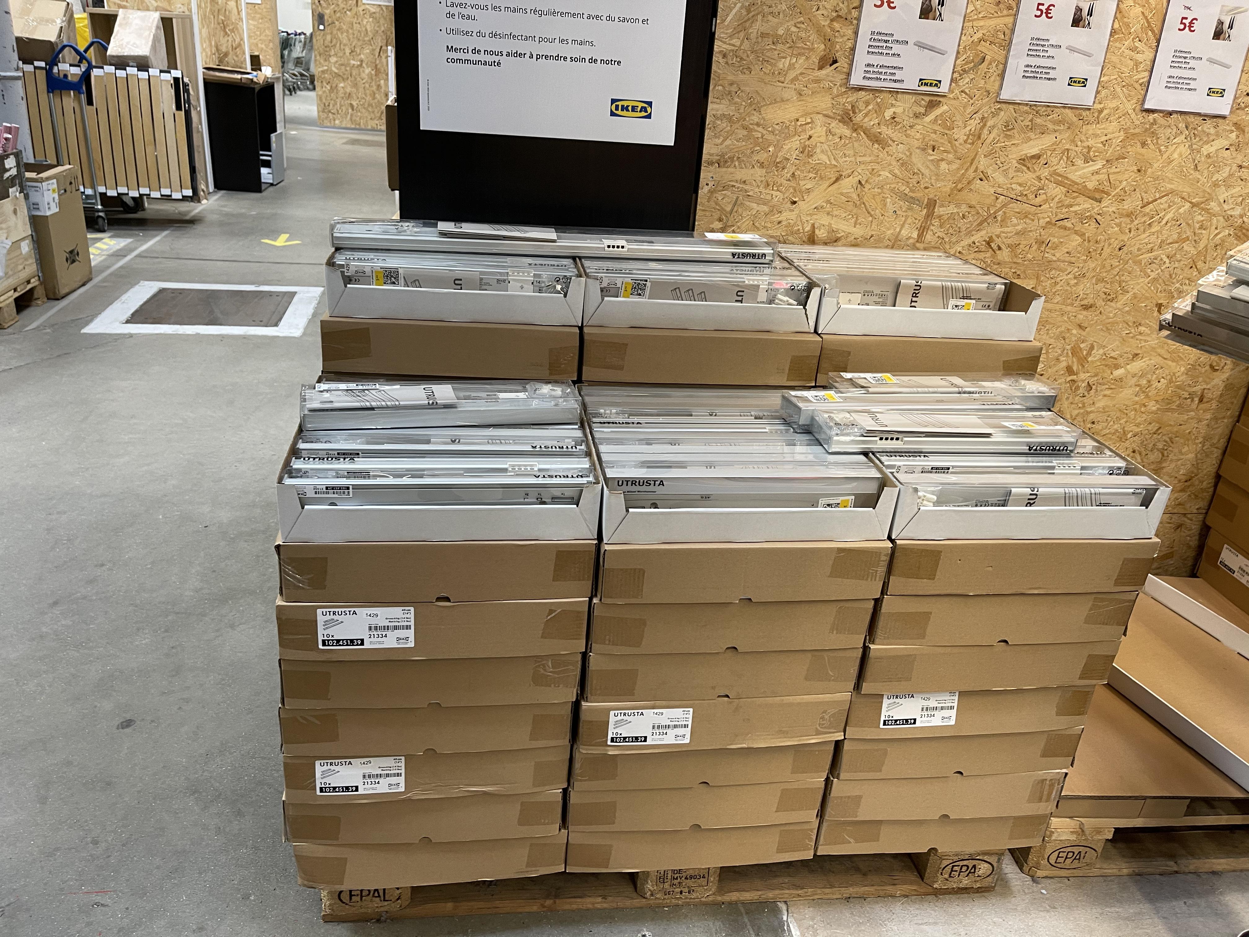 Éclairage plan de travail Utrusta - 80cm, Ikea Lomme (59)
