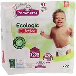 Pack de 22 Couches ou couches culottes Pommette Ecologic tailles 4 à 6 (Six-Fours-les-Plages 83)