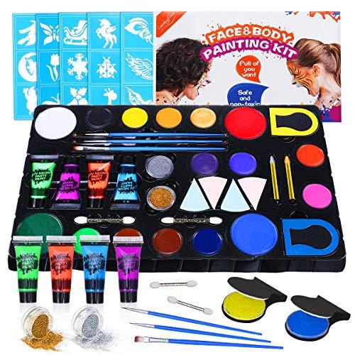 Kit de peintures corporelles Luckyfine - 16 couleurs (vendeur tiers)