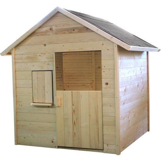 Maisonnette en bois avec plancher Igor Soulet pour Enfant