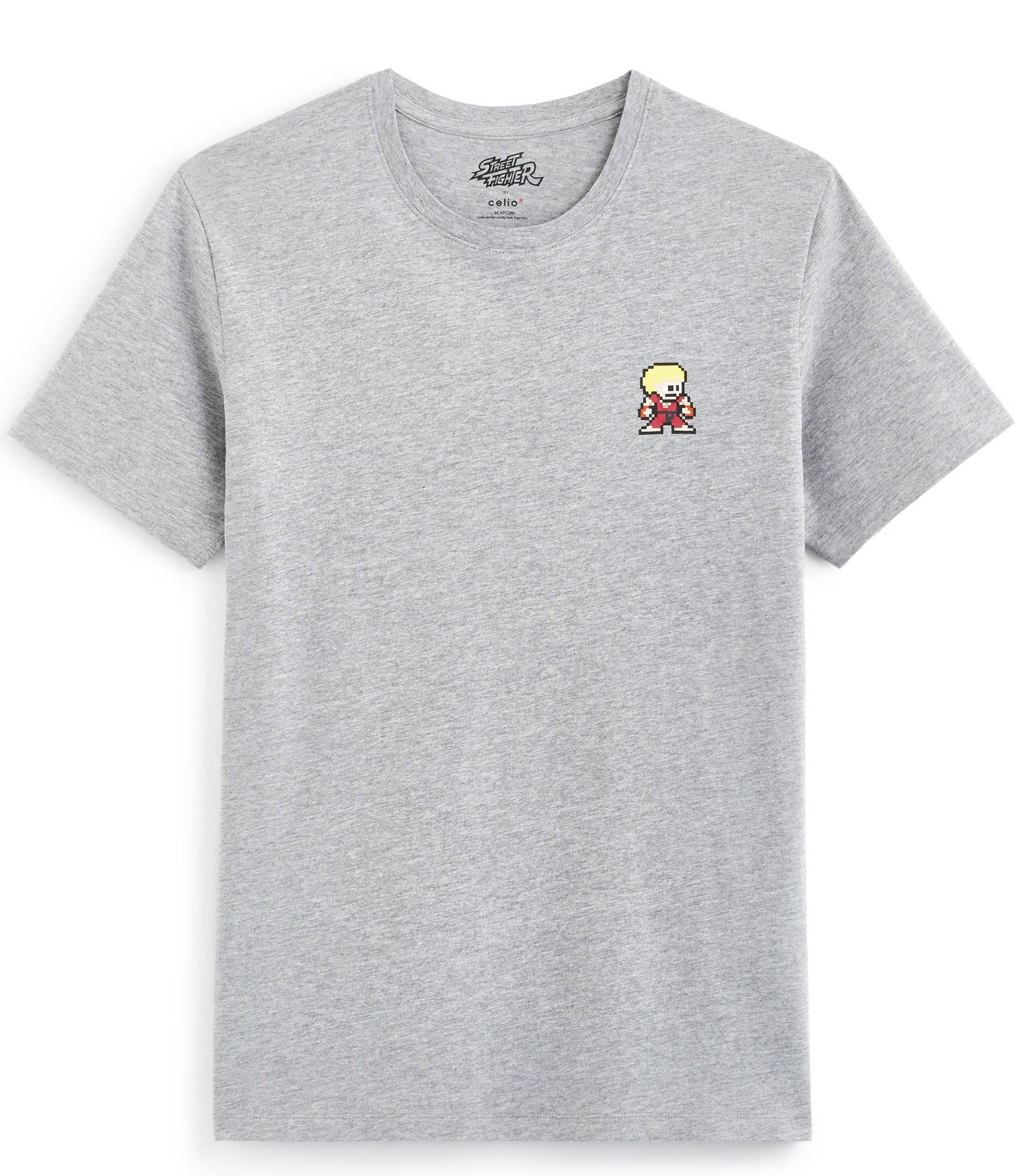 T-shirt Street Fighter - Gris ou Blanc