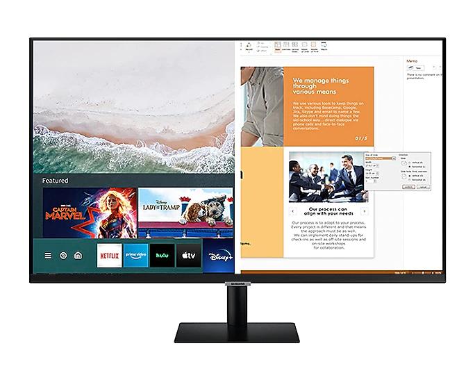 """[Etudiants / Clients MACIF / Ulys] Ecran PC 27"""" Samsung Smart Monitor M5 LS27AM500NRXEN - FullHD (Via ODR 50€)"""