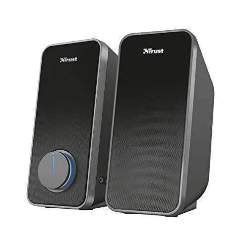 Haut-parleurs Trust Arys pour PC - 2.0, 28 W, alimenté par USB - Noir