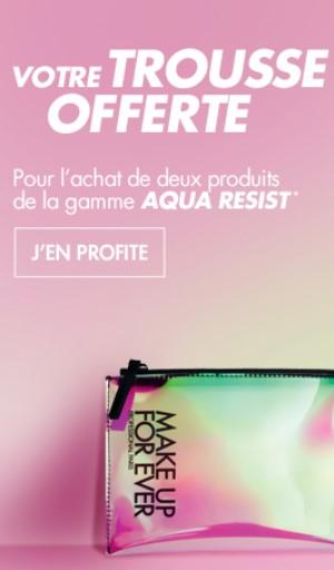 Une trousse offerte pour l'achat de deux produits de la gamme Aqua Resist (makeupforever.com)