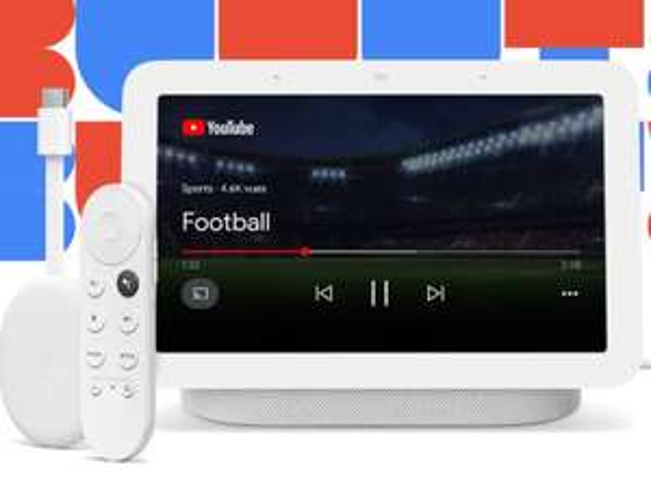 Assistant vocal Google Nest Hub (2e génération) + Chromecast avec Google TV
