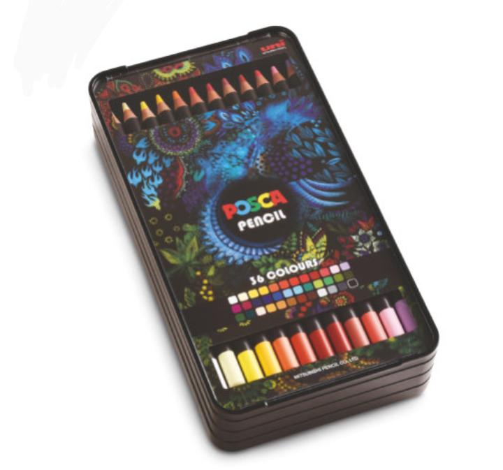 Coffret de 36 crayons de couleurs Posca