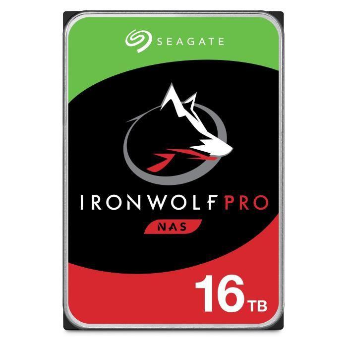 "Disque dur interne 3.5"" Seagate IronWolf Pro pour NAS (ST16000NE000) - 16 To"