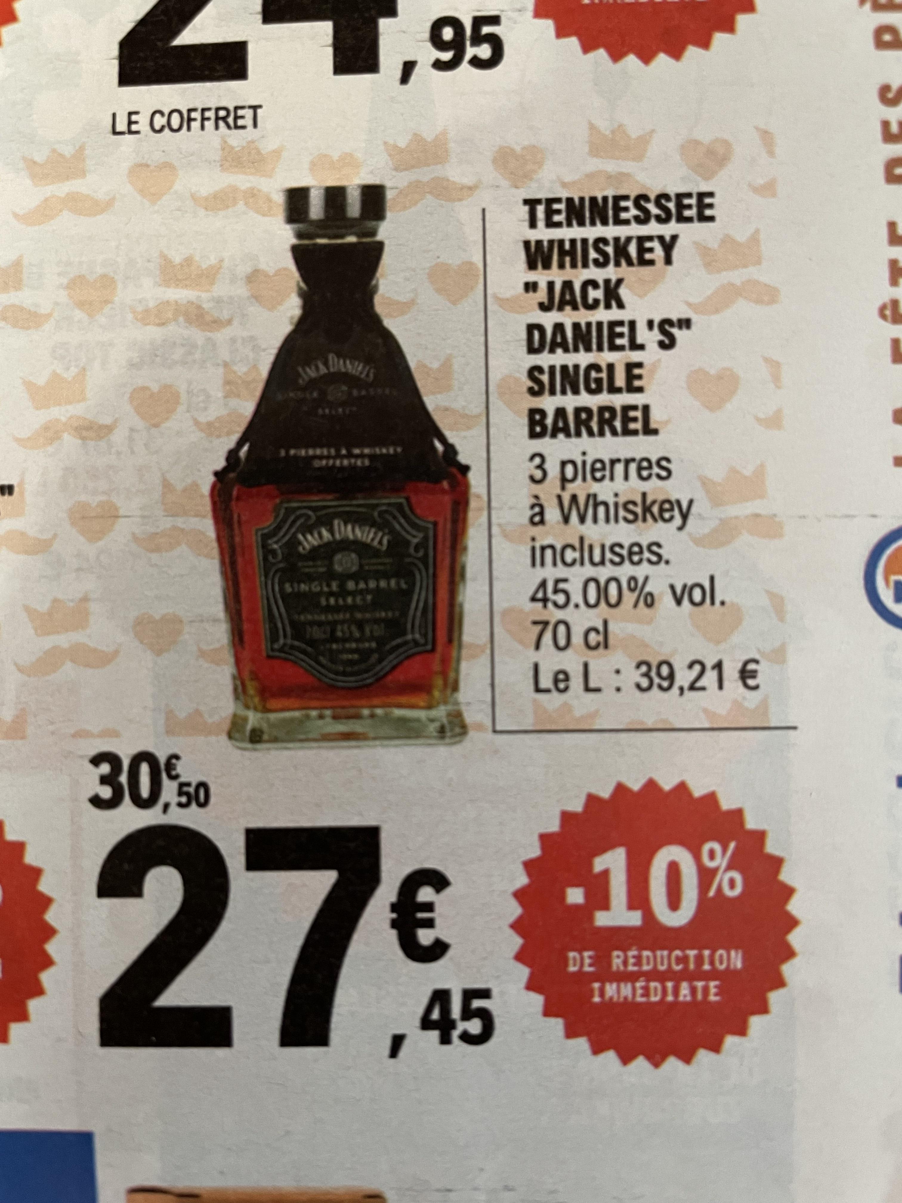 Bouteille de Whisky Jack Daniel's Single Barrel - 45%, 70cl