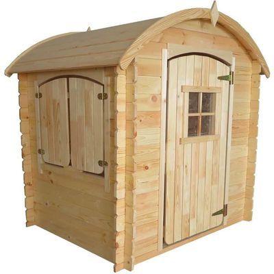 Cabane en bois pour enfant Patty avec plancher - L1.33m x l1.08m x H1.42m