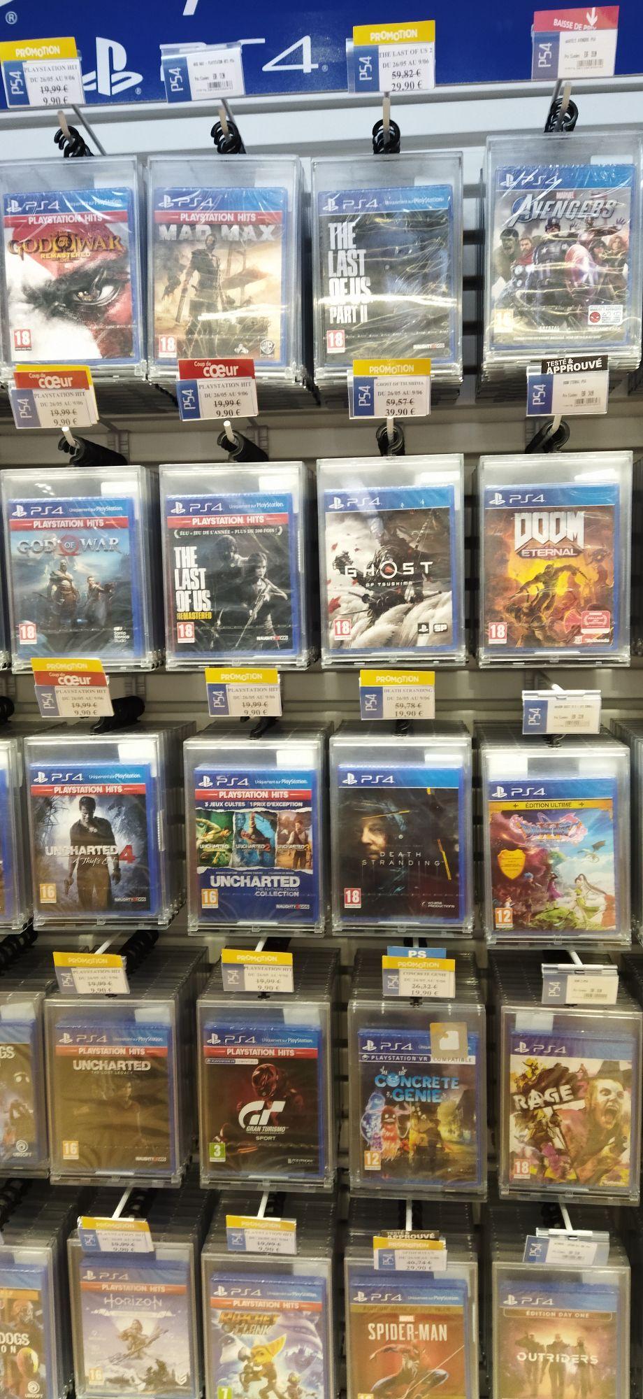 Sélection de jeux vidéos PS4 en promotion (Beynost 01)