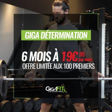 Forfait Giga Détermination pendant 12 mois (engagement 12 mois) - Frais de dossier 39€ (gigafit.fr)