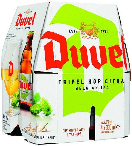 Pack de 4 bières Duvel Tripel Citra IPA - 4x 33cl