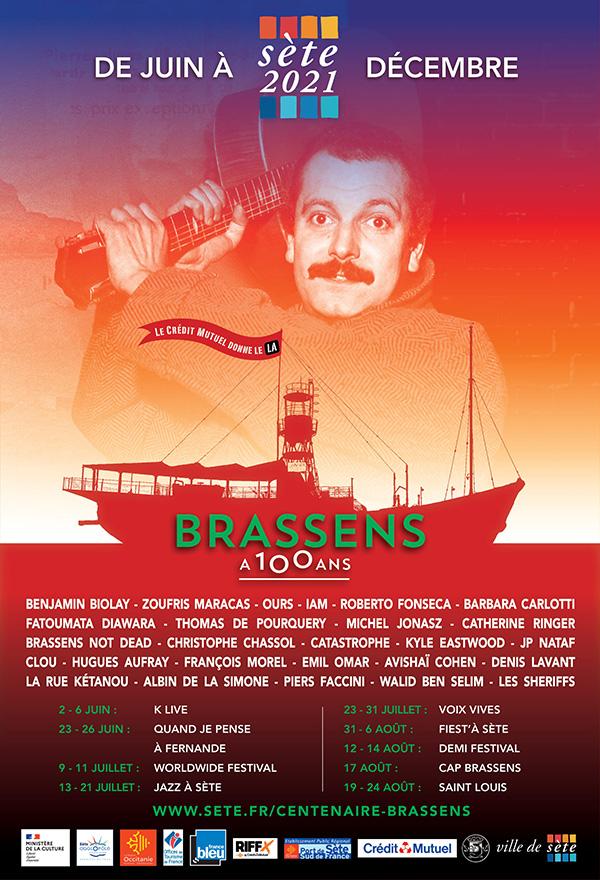 Accès au bateau du Centenaire Brassens gratuit le 10 & 11 juin 2021 - Sète (34)