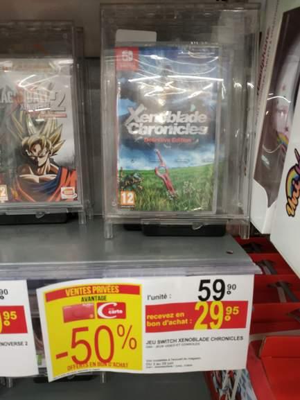 [CB Casino] Jeu Xenoblade Chronicles : Définitive Edition sur Nintendo Switch (via 29.95€ en bon d'achat) - Montpellier (34)