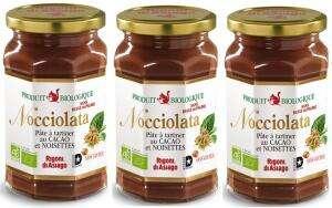 Lot de 3 pots de pâte à tartiner Bio Nocciolata - 3 x 270 g