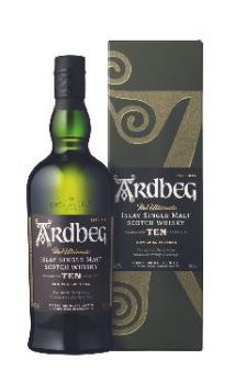 Bouteille de whisky Ardbeg Islay Single Malt - 10 ans d'âge, 70 cl