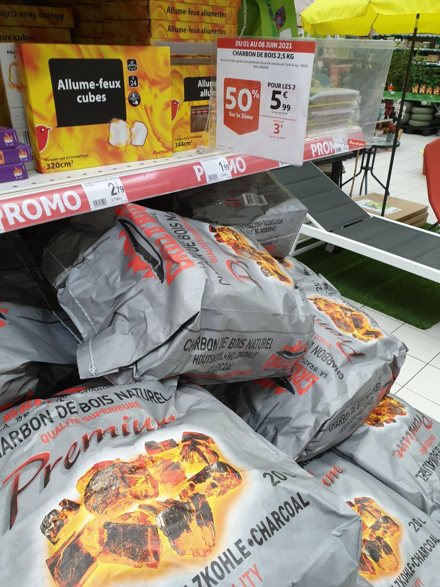 2 sacs de Grill O'Bois Premium charbon de bois naturel (2 x 20L) - Mont Saint Martin (54)