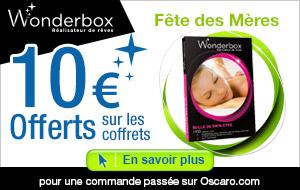 Bon de réduction de 10€ sur Wonderbox offert sans minimum d'achat (+ Livraison gratuite sans minimum)