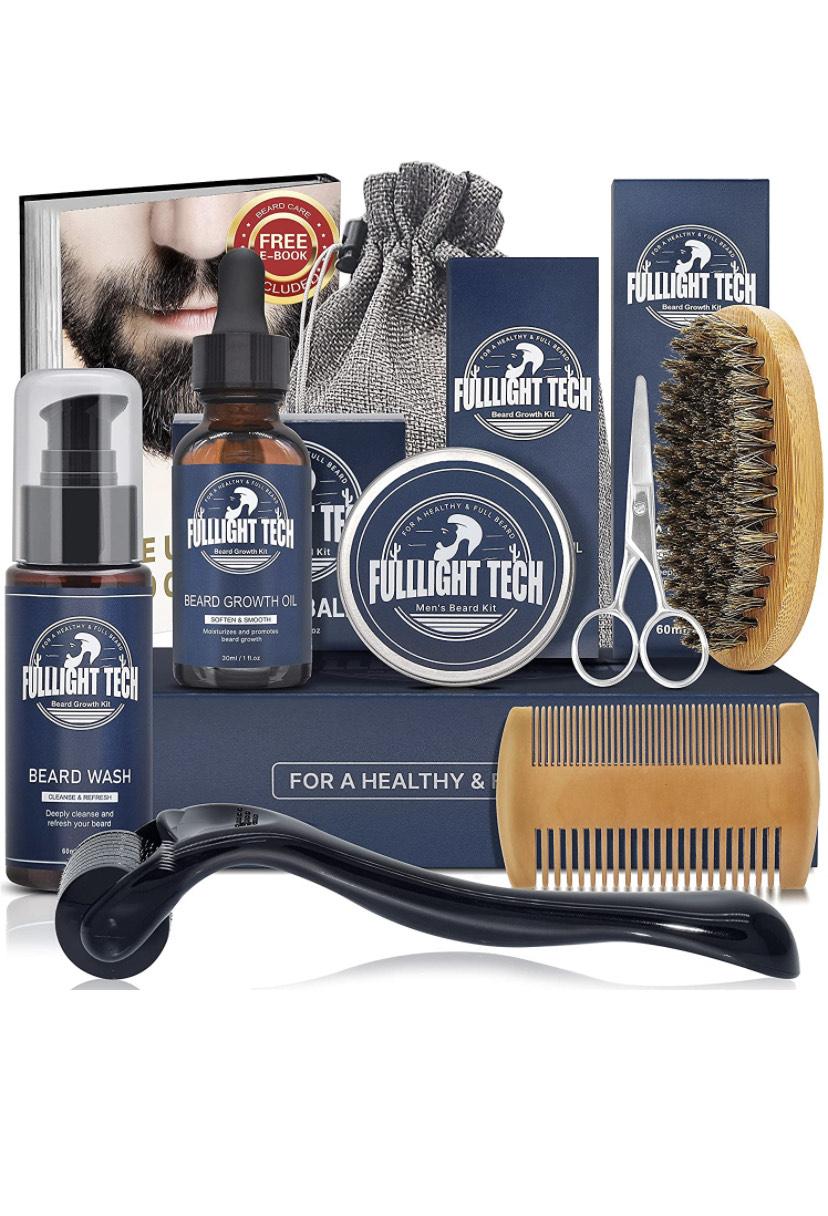 Kit de Soin Barbe Homme avec rouleau Barbe FULLLIGHT TECH (Vendeur Tiers)