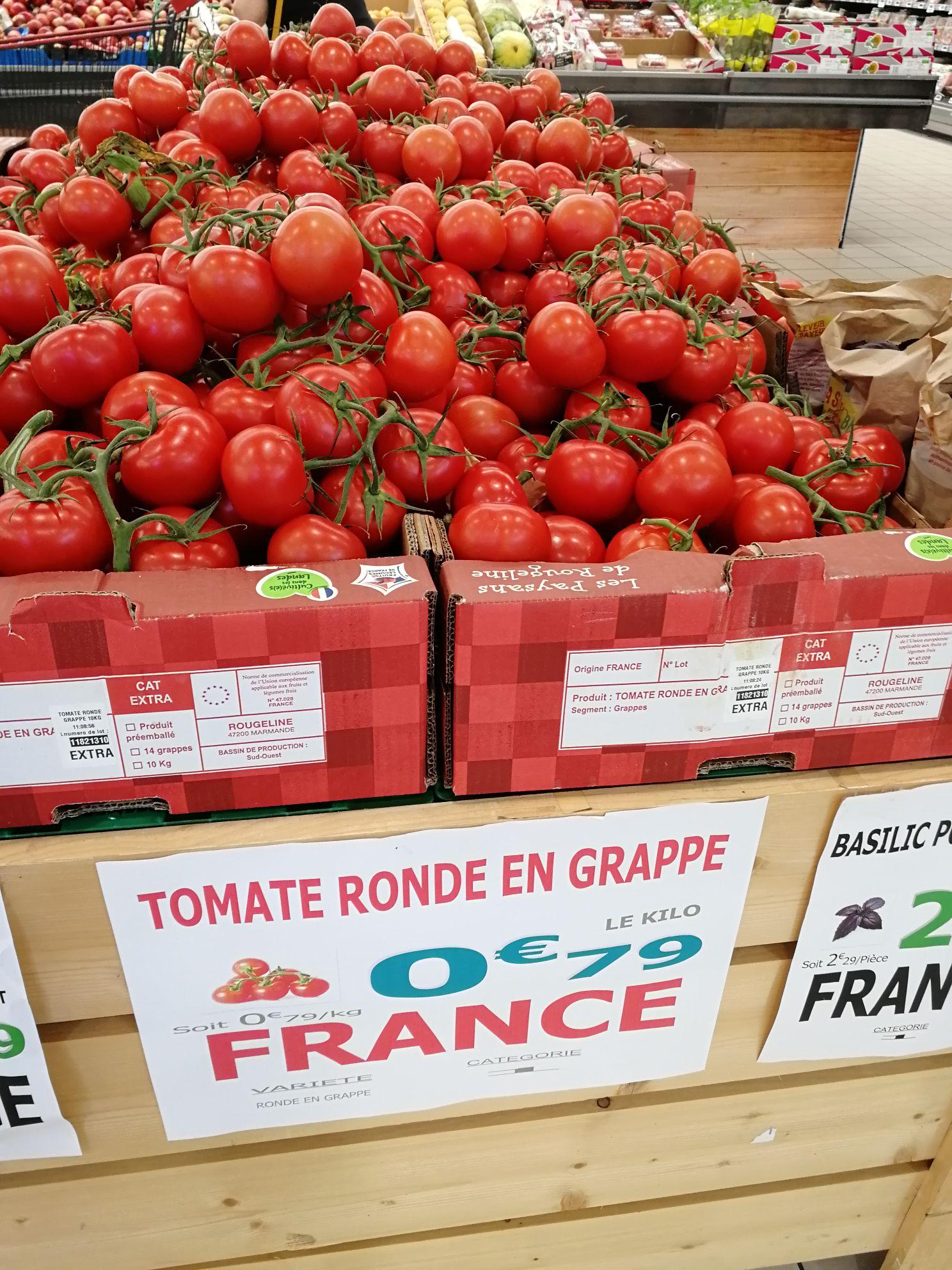 Le kilo de Tomates grappes - Domancy (74)