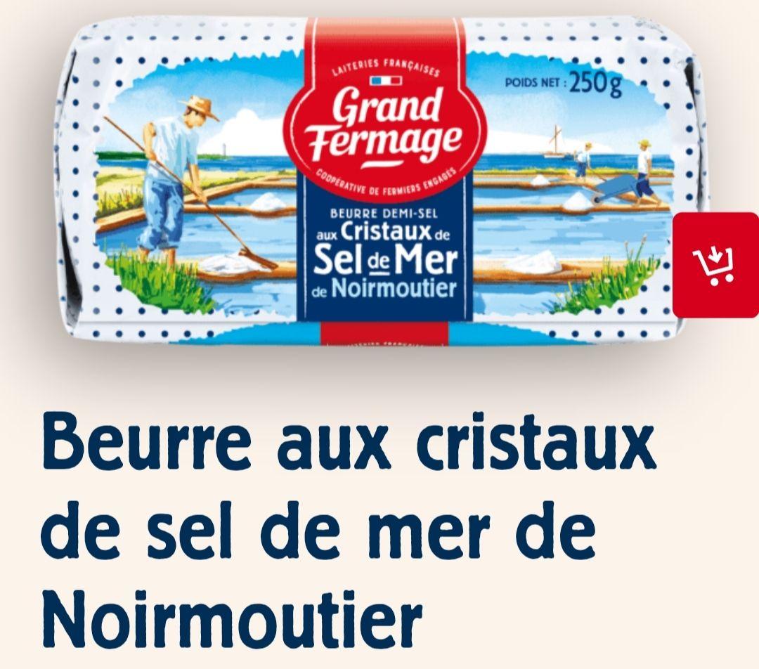 Lot de 3 beurres Grand Fermage (Variétés au choix) - 3 x 250g