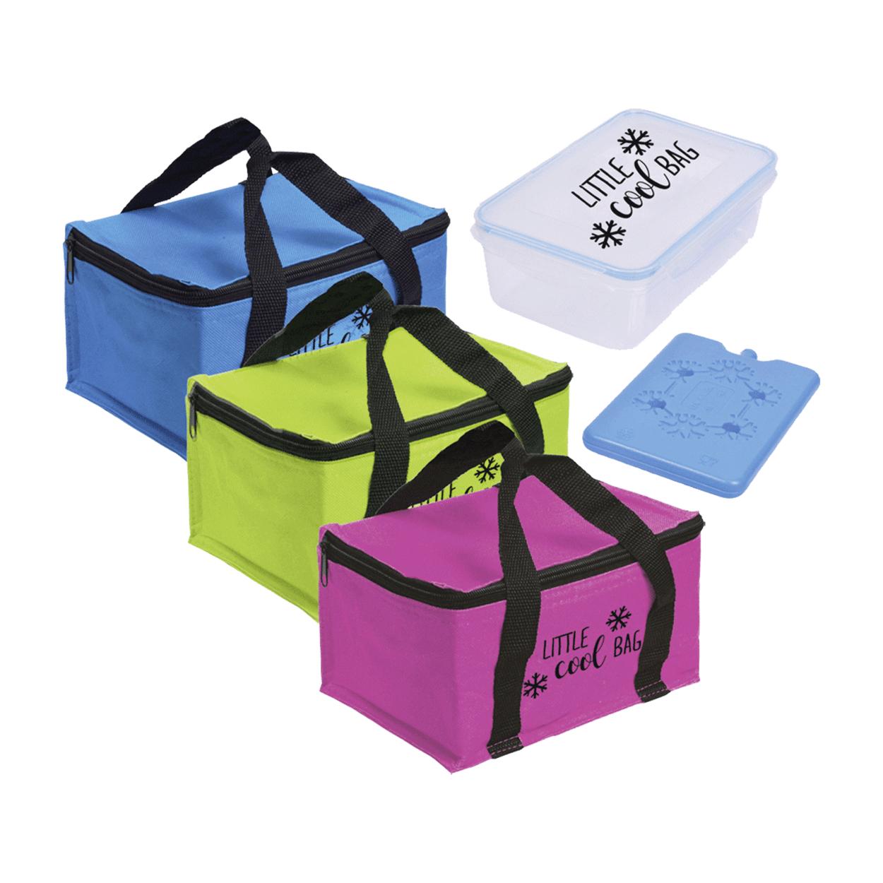Sac isotherme + lunch box + bloc froid (différents coloris disponibles)
