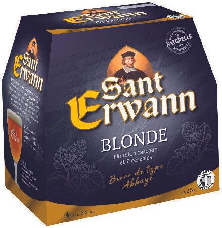Lot de 6 bières blondes Saint Erwann - 6x25 cl