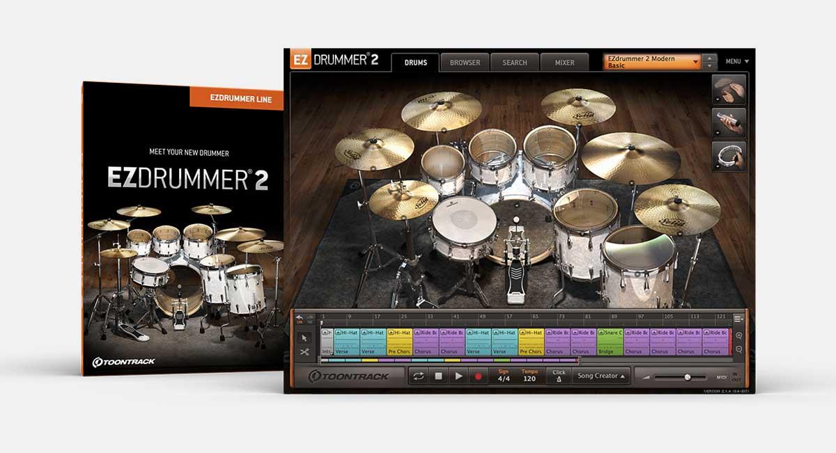 Bundle Studio de production de batterie virtuelle Ezdrummer 2 + Pack expansion (Dématérialisé) - toontrack.com