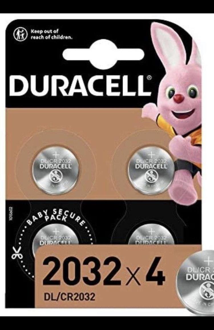 Lot de 4 piles Duracell CR 2032