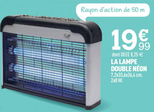 Destructeur d'insectes électrique - 2x8w