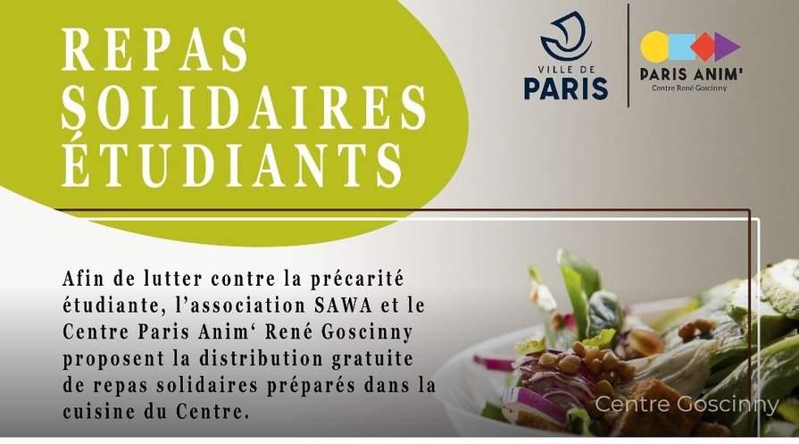 [Étudiants] Distribution Gratuite de Repas - Paris (75013)