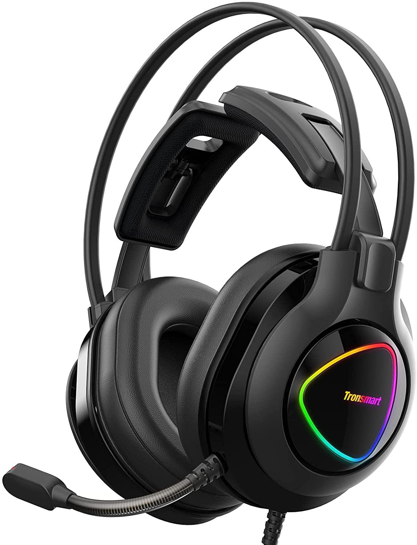 Casque-Micro gaming filaire Tronsmart Alpha pour PC / PS4 / Xbox One - LED RGB (Vendeur tiers)